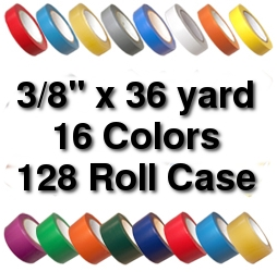 Vinyl Marking Tape 3/8 inch x 36 yard (128 Roll Case) - Light Green