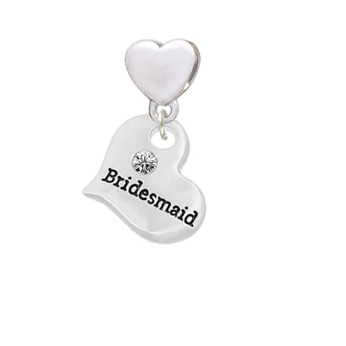 Large Bridesmaid Heart - Heart Charm Bead