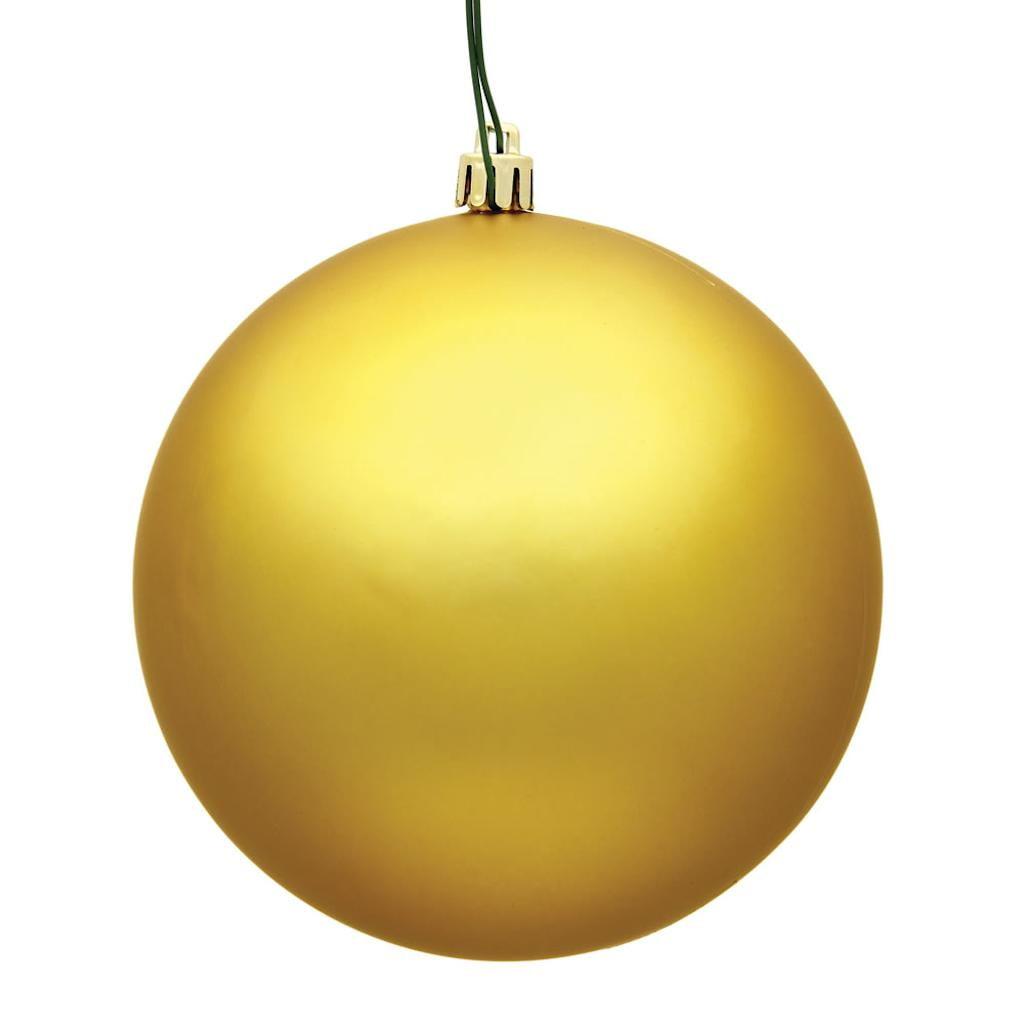 "Vickerman 486160 - 8"" Honey Gold Matte Ball Christmas Christmas Tree Ornament (N592037DMV)"