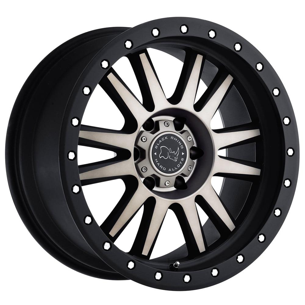 "Black Rhino Tanay 17x9 6x139.7 (6x5.5"") +12mm Black/Machined/Tint Wheel Rim"