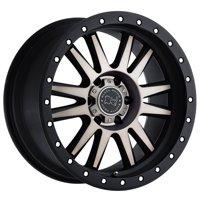 "Black Rhino Tanay 17x9 8x165.1 (8x6.5"") +12mm Black/Machined/Tint Wheel Rim"