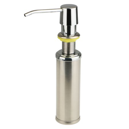 Stainless Steel Soap Bottle, Liquid Soap & Lotion Sink Soap Dispenser Pump for Kitchen or Bathroom Countertops, Brushed