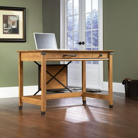 Sauder Registry Row Writing Desk Amber Pine Walmart Com