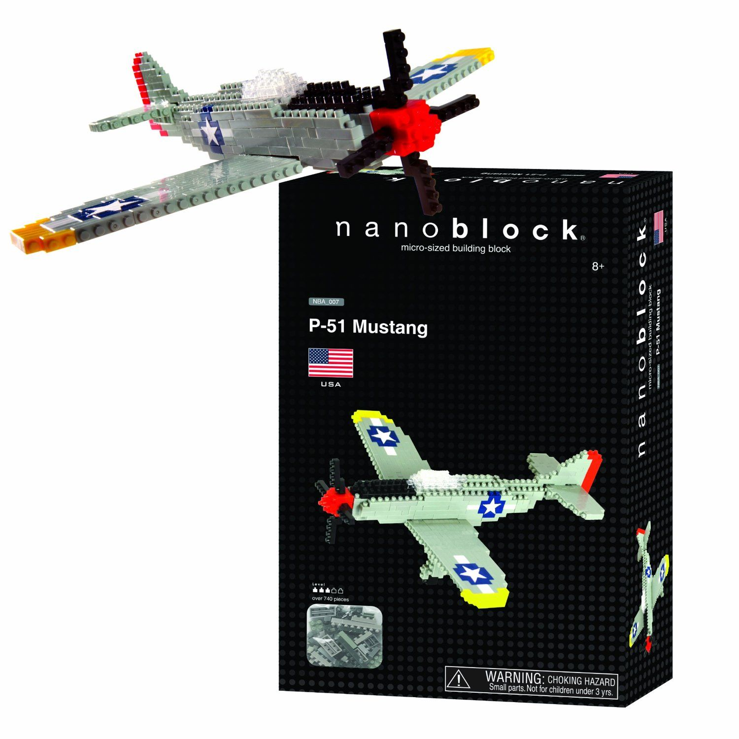 P-51 Mustang Fighter Plane Building Set by Nanoblock (58196) by nanoblock