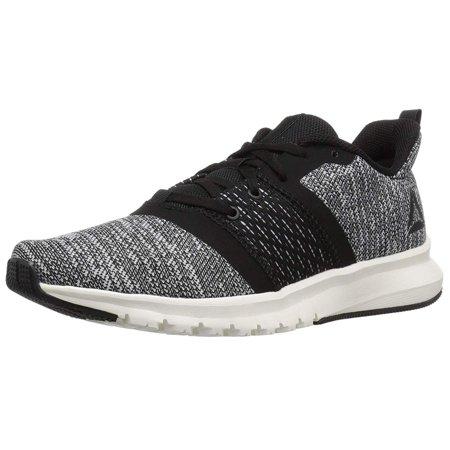 Reebok Women's Print Lite Rush Running Shoe, Black/Chalk/White, Size 9.0 ()