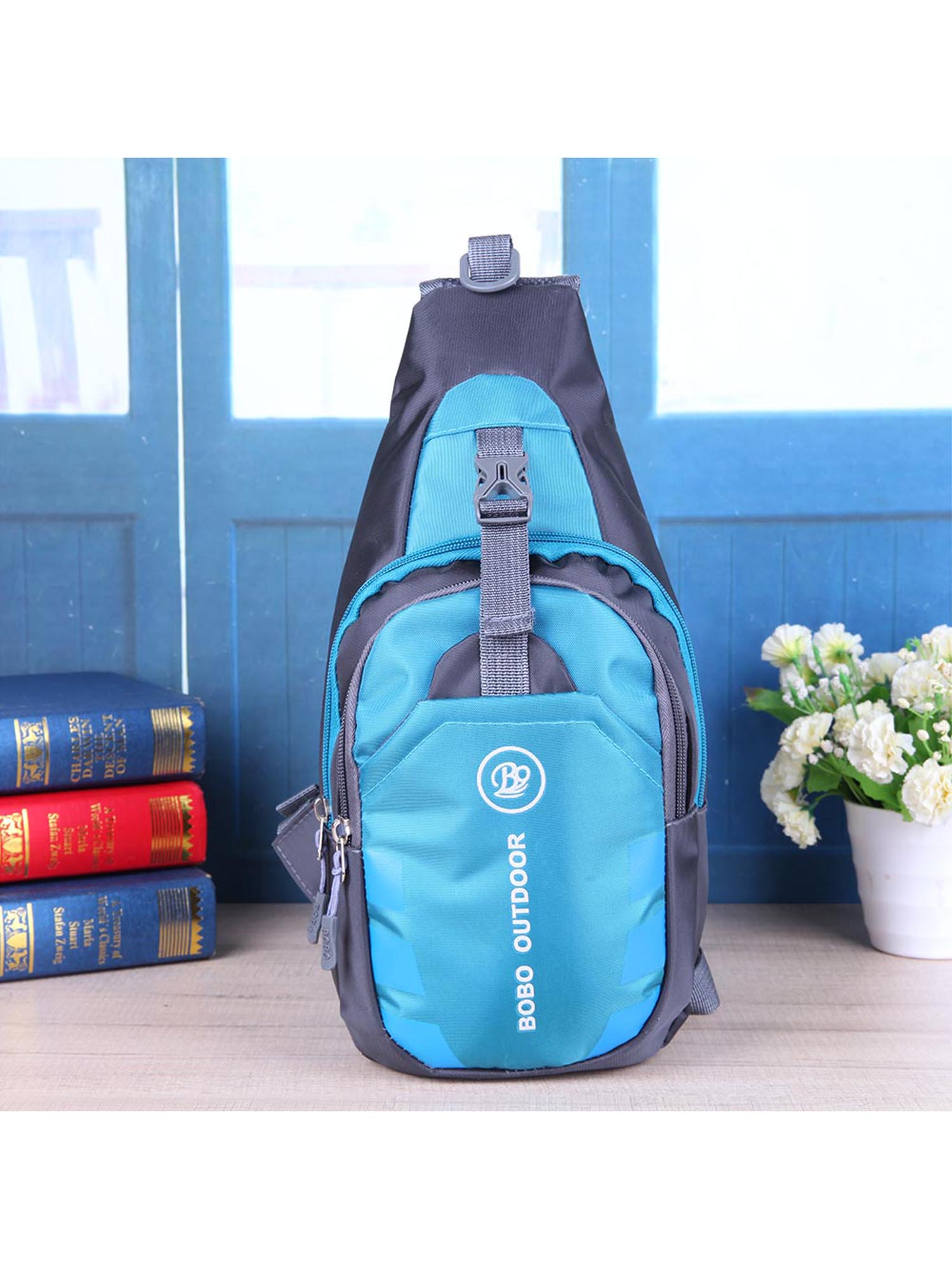 Women Chest Bag Outdoor Sport Travel Shoulder Sling Backpack Pouch Waterproof (Blue) by