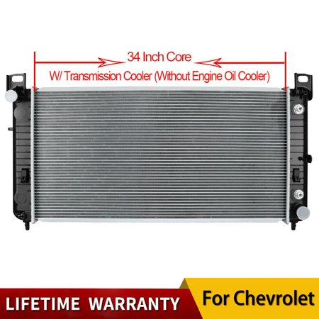 "2423 34"" Radiator for Chevrolet GMC Silverado Sierra Tahoe w/Oil Cooler 4.8 5.3"