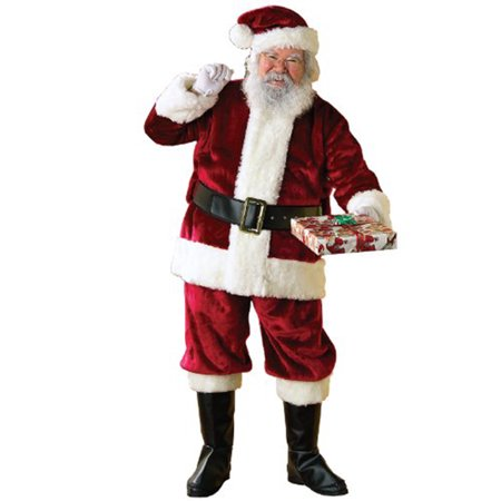 Santa Claus Crimson Regency Deluxe Plush Santa Suit