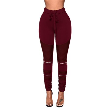 Elastic Waist Women Slim Fit Skinny Pencil Pants