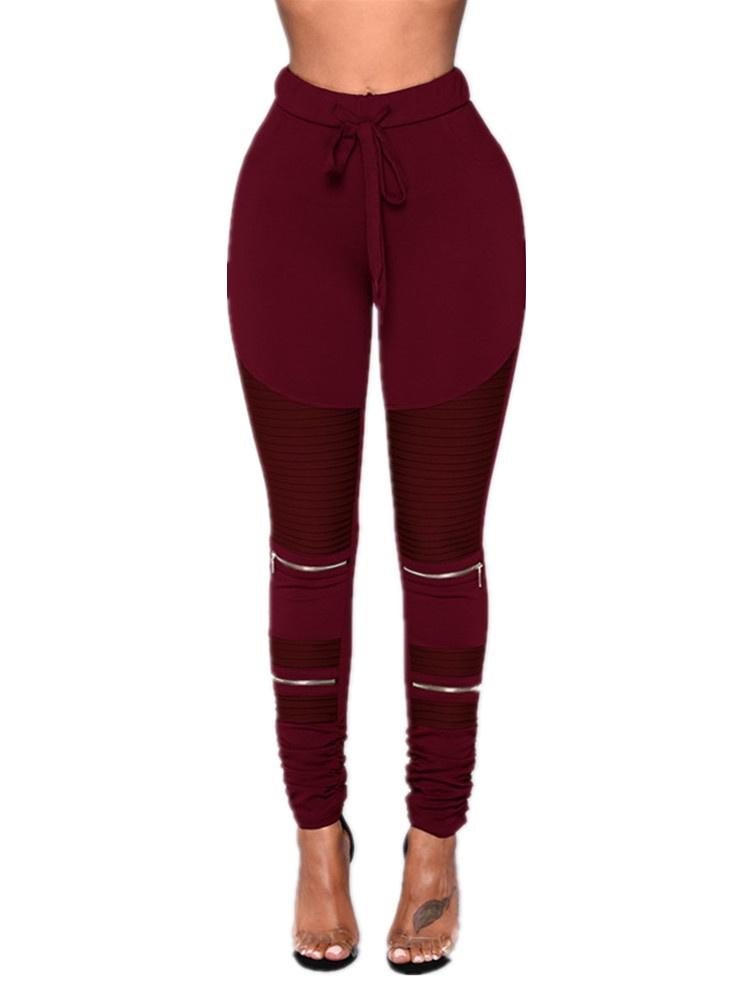 Elastic Waist Women Slim Fit Skinny Pencil Pants Leggings