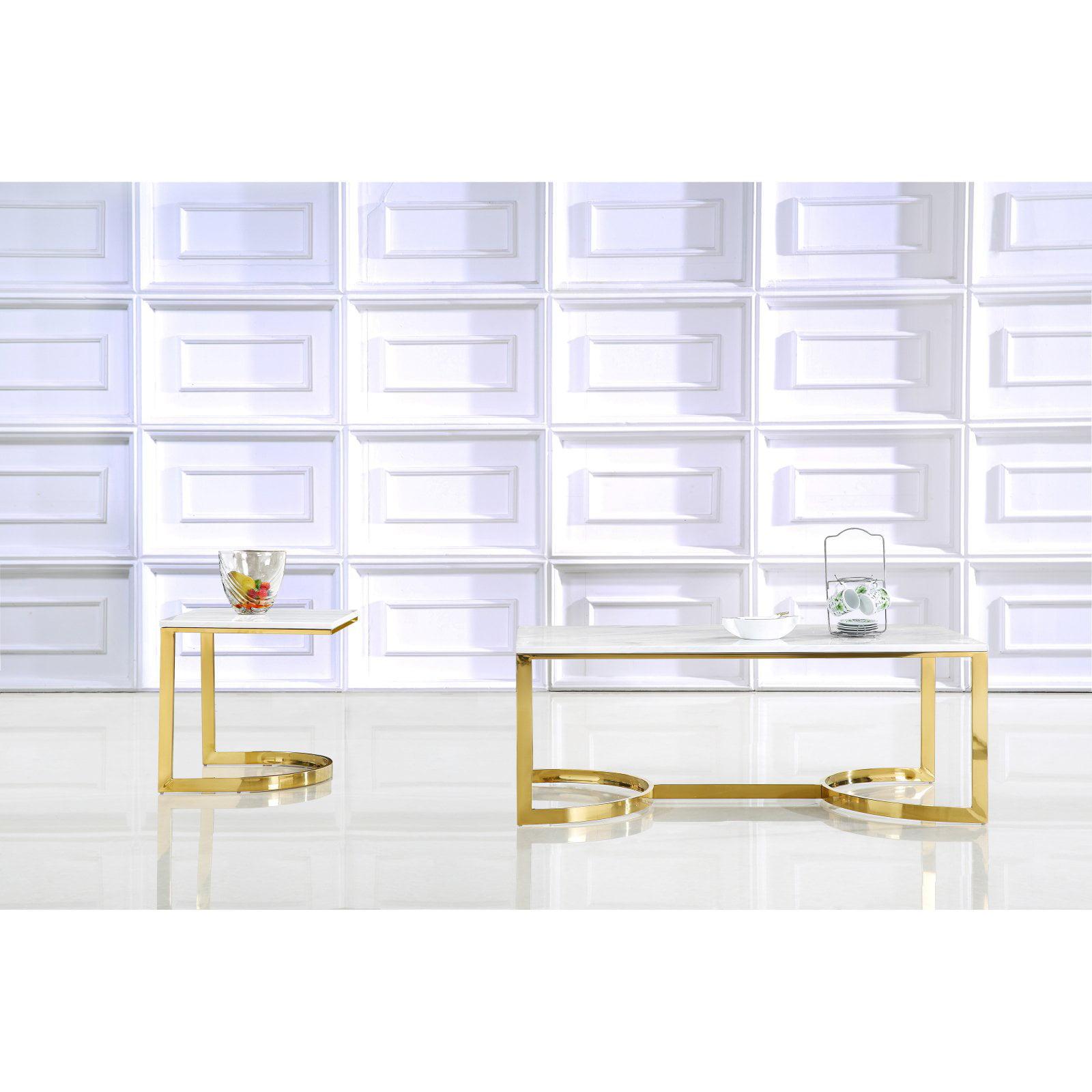 Meridian Furniture Inc London Gold Coffee table
