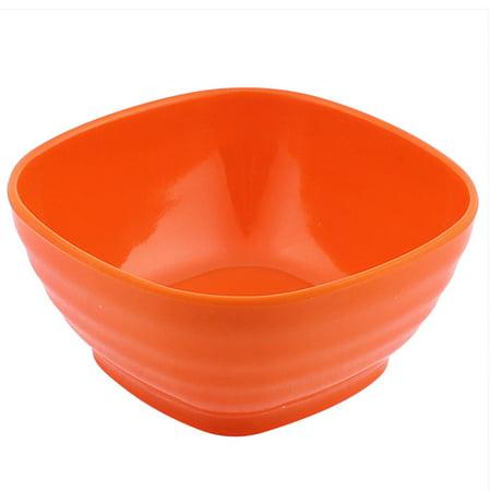 Yellow Plastic Bowls (Unique Bargains Multi-Purpose Plastic Square Bowl Appetizer Fruits Salad Soup Rice Porridge Holder Cereal)