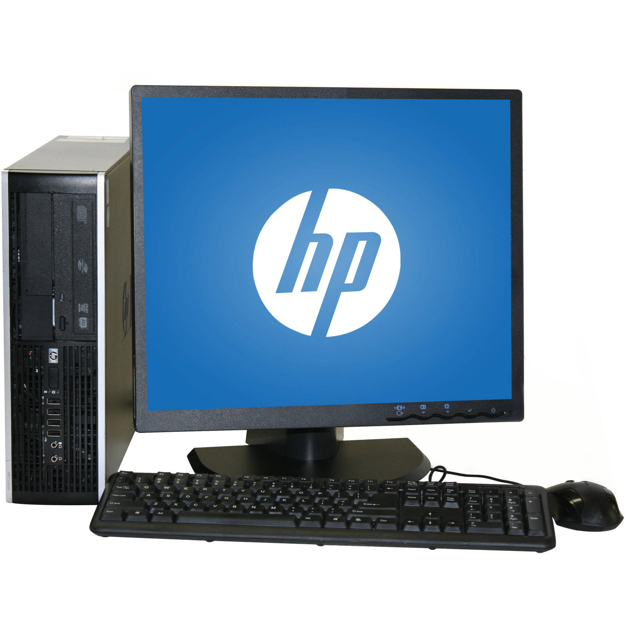 "Refurbished HP 8000 Desktop PC with Intel Core 2 Duo Processor, 8GB Memory, 19"" Monitor, 1TB Hard Drive and Windows 10 Home"