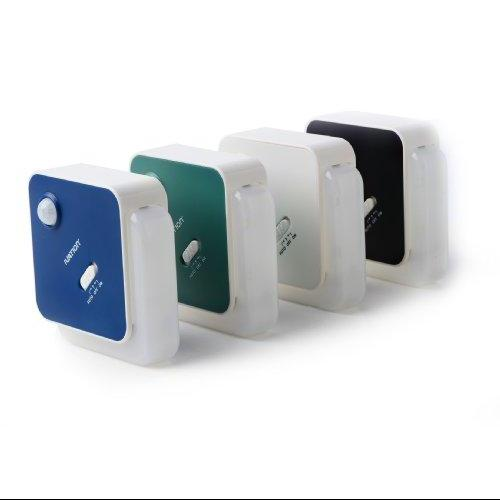 Ivation 4 Led Motion Sensor Light Black Battery