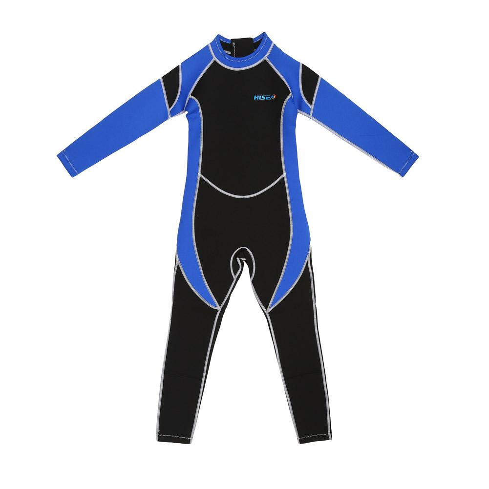 Details about  /2.5MM Children One Piece Long Sleeve Diving Wetsuit Kids Girl Swimming Suit
