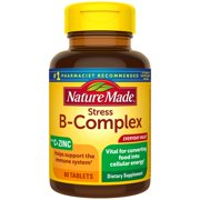 Nature Made Stress B-Complex with Vitamin C and Zinc Tablets, 80 Count for Cellular Energy