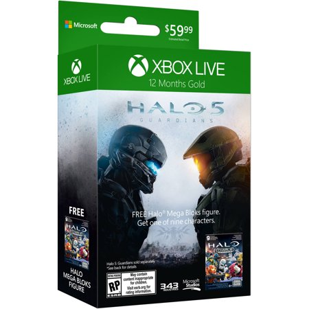 Xbox Live 12-Month Gold Card with Halo Figure (Xbox 360 / Xbox One)