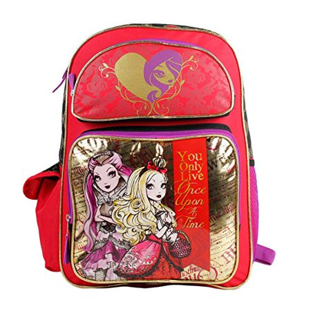 Backpack - Ever After High - Apple White Raven Queen School Bag New