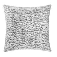 Better Homes & Gardens Texture Faux Fur Pillow, 22 x 22, Grey