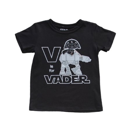 V Is For Vader Star Wars Toddler T-Shirt Romper Baby Infant Empire Black](Star Wars Babys)
