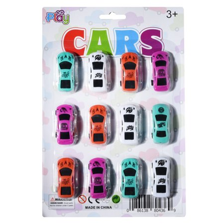 Go Play Toy Cars Set  Bulk Pack of [12] Mini Collectible Toy Race Cars for Boys & Girls  Assorted Vehicles for Home, School, Toddler Birthday, Kids Party Favors & More  Recommended Ages 3+ - Race Car Birthday