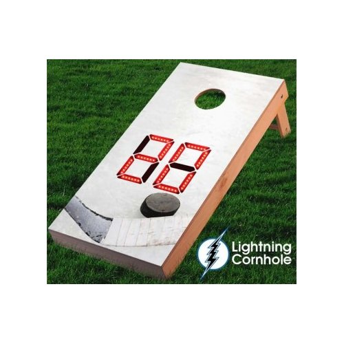 Lightning Cornhole Electronic Scoring Ice Hockey Cornhole Board by
