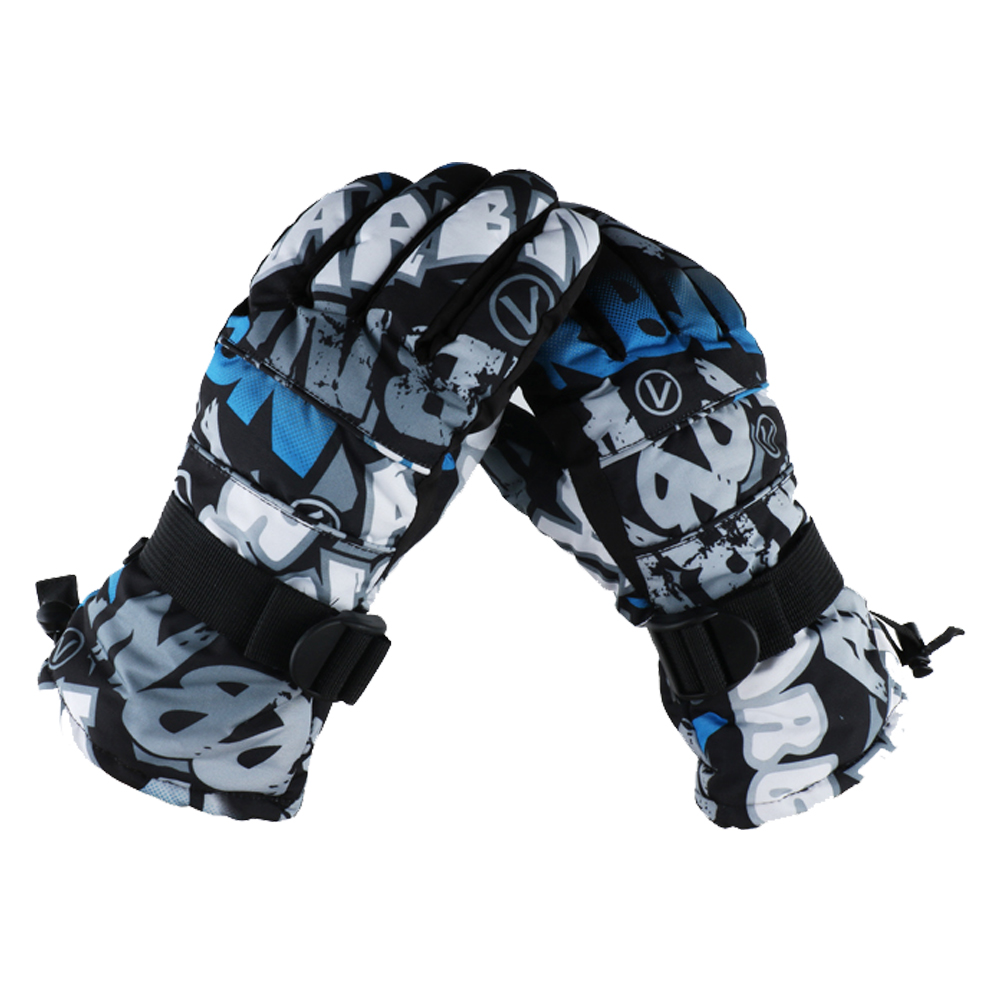 EVBEA -22 Degree F Womens Mens Cold Weather Waterproof Glove Magic Stretch Ink Camo Winter Warm Ski Gloves