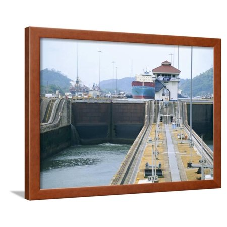 Miraflores Locks, Panama Canal, Panama, Central America Framed Print Wall Art By Sergio (Canal Framed Print)