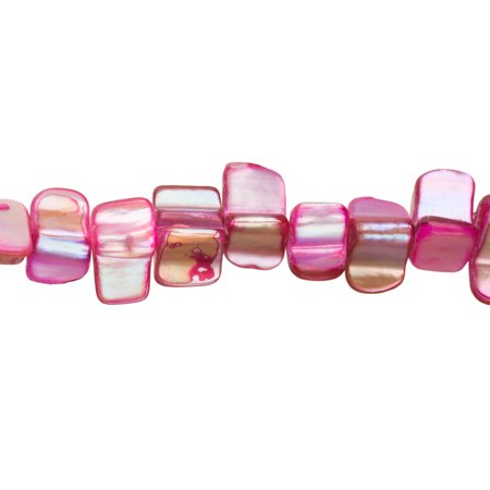 Hot Pink Mother-Of-Pearl Nacre Chips Shell Beads (Hot Pink Pearl)