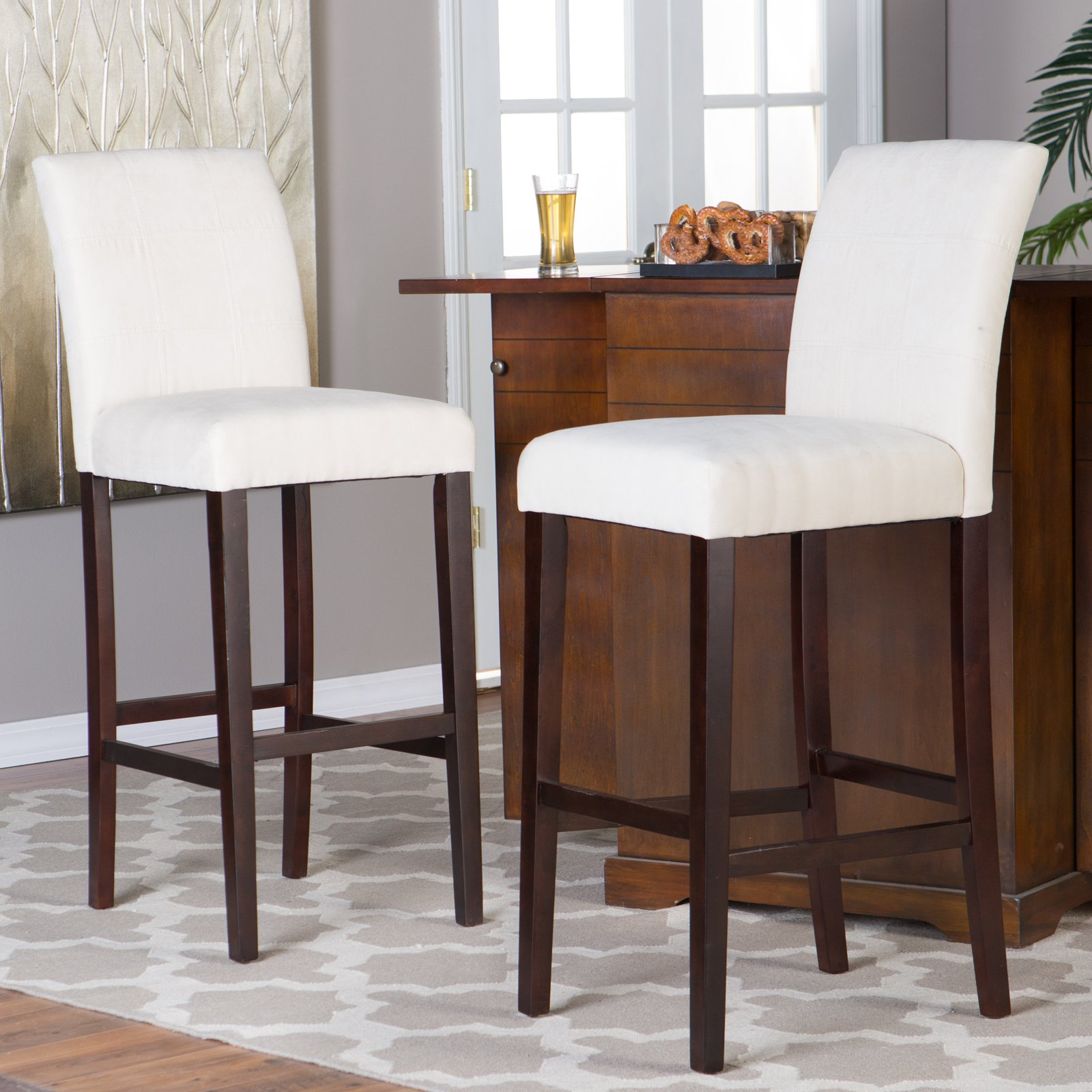 Finley home palazzo extra tall bar stool set of 2 walmart com