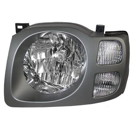 Drivers Headlight Headlamp with Silver Bezel Replacement for Nissan SUV 260607Z826, Meets all OE specifications, with DOT stamp By AUTOANDART