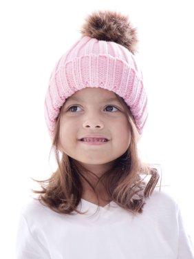c268a746d58 Product Image Kids Boys Girls Fur Pom Pom Ball Knit Crochet Baggy Hat Beanie  Ski Cap Winter. BASILICA
