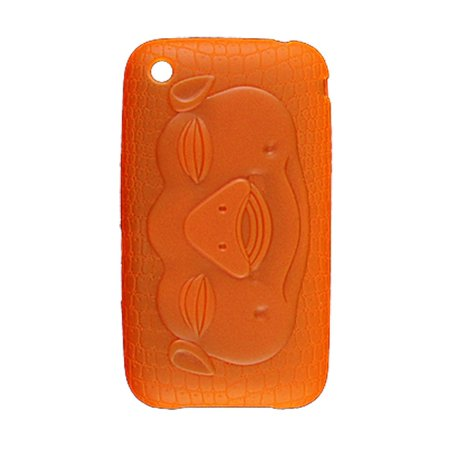 Watch Case Snake Pattern - Plastic Pig Face Snake Pattern Phone Case Orange Red for iPhone 3G