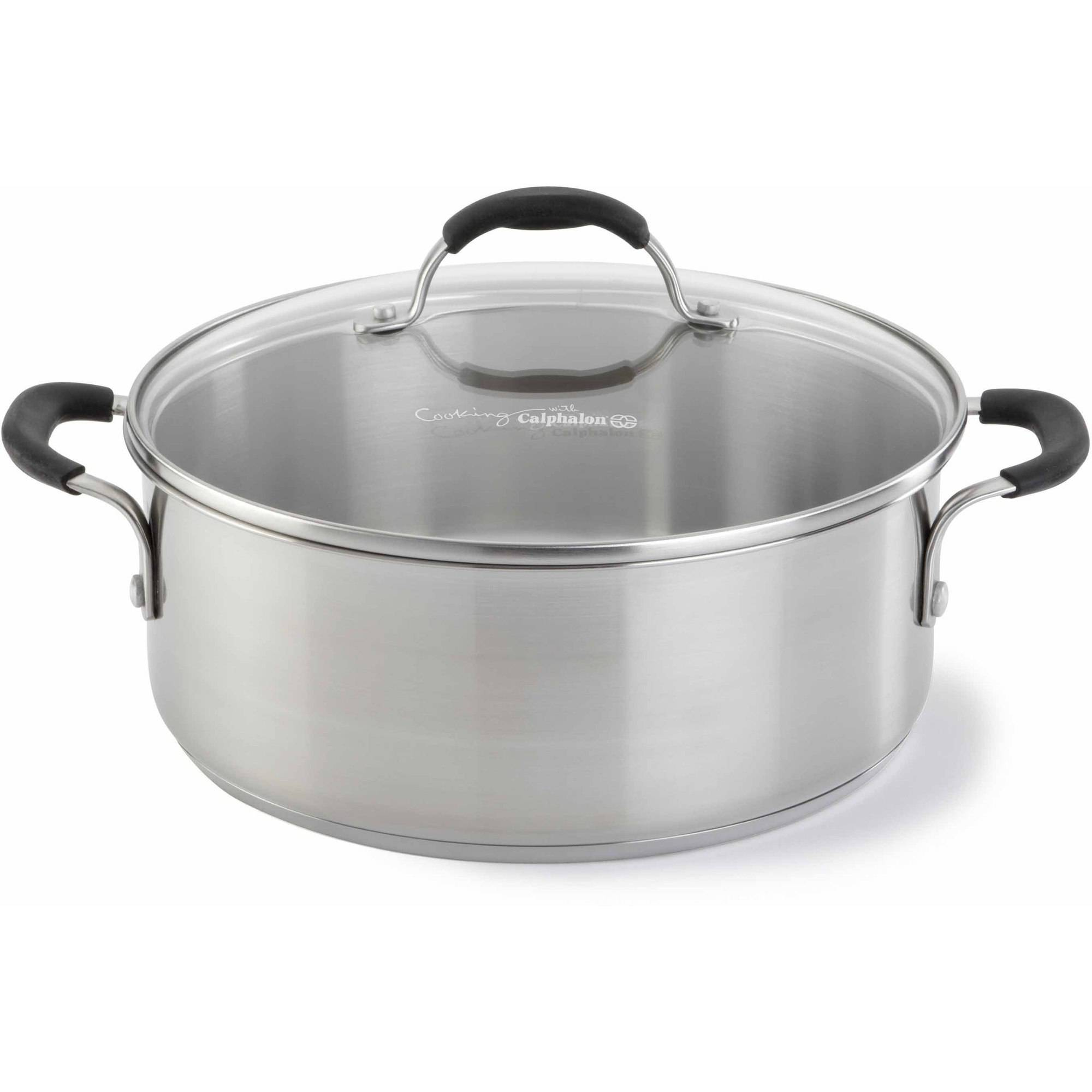 cooking with calphalon stainless steel 5 quart dutch oven u0026 cover