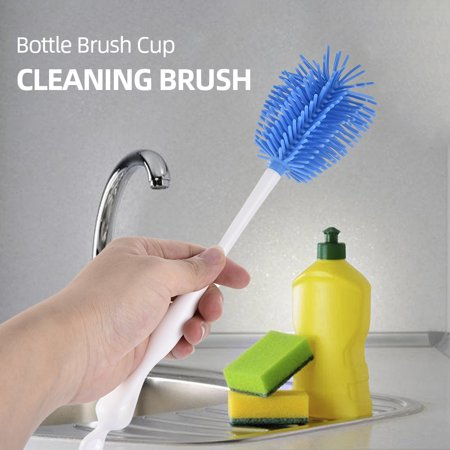 Bottle Brush Cup Brush Bottle Cleaner Dispensing Brush Cup Cleaning Brush for Glass Cups - image 3 de 7