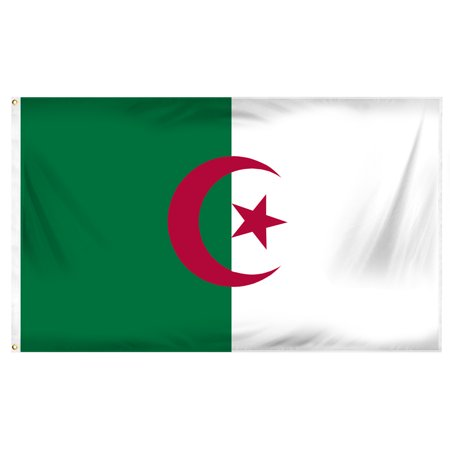 Algeria 3ft x 5ft Printed Polyester Flag