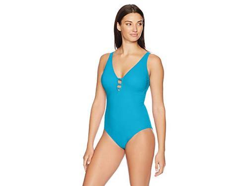 Gottex Womens V-Neck One Piece Swimsuit