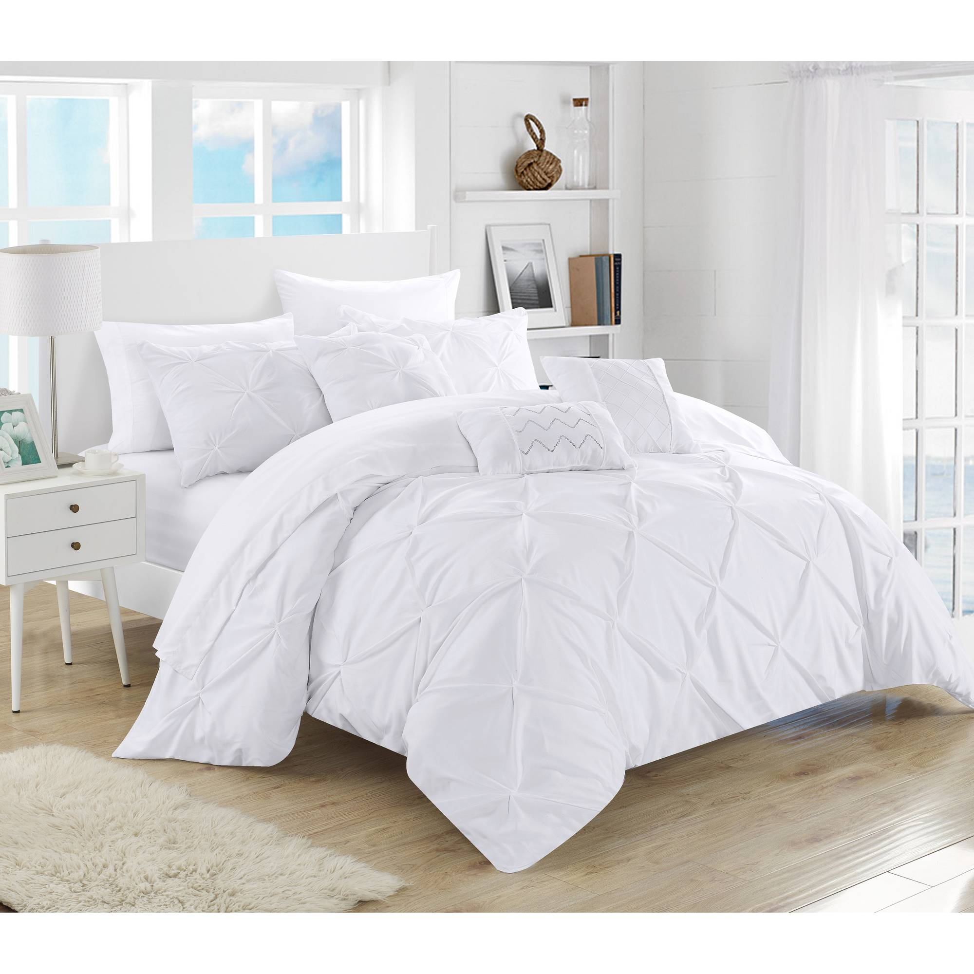 chic home valentina 10 piece bed in a bag comforter set walmart com