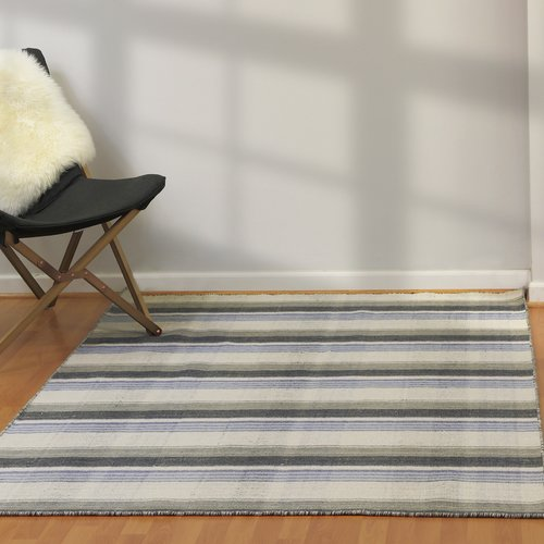 August Grove Pickering Hand Woven Wool Light Gray Area Rug
