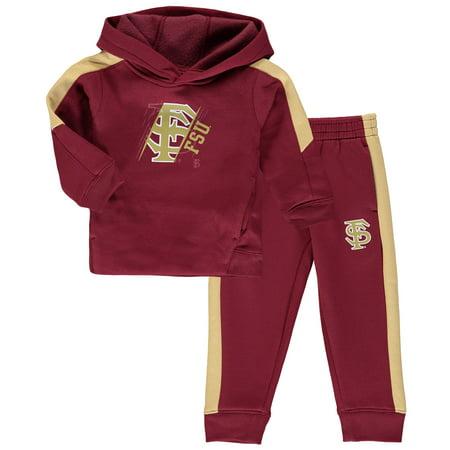 Florida State Seminoles Toddler Fullback Fleece Hoodie and Pants Set - Garnet - Garnet Hill For Kids