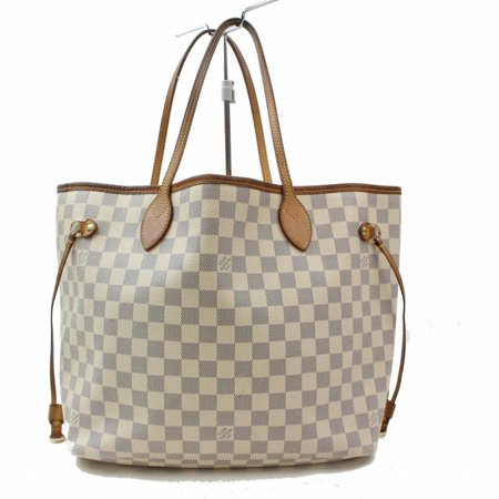 Louis Vuitton Monogram Speedy 30 - Louis Vuitton Neverfull Damier Azur Mm Everyday Shopper 868990 White Coated Canvas Tote PRE-OWNED