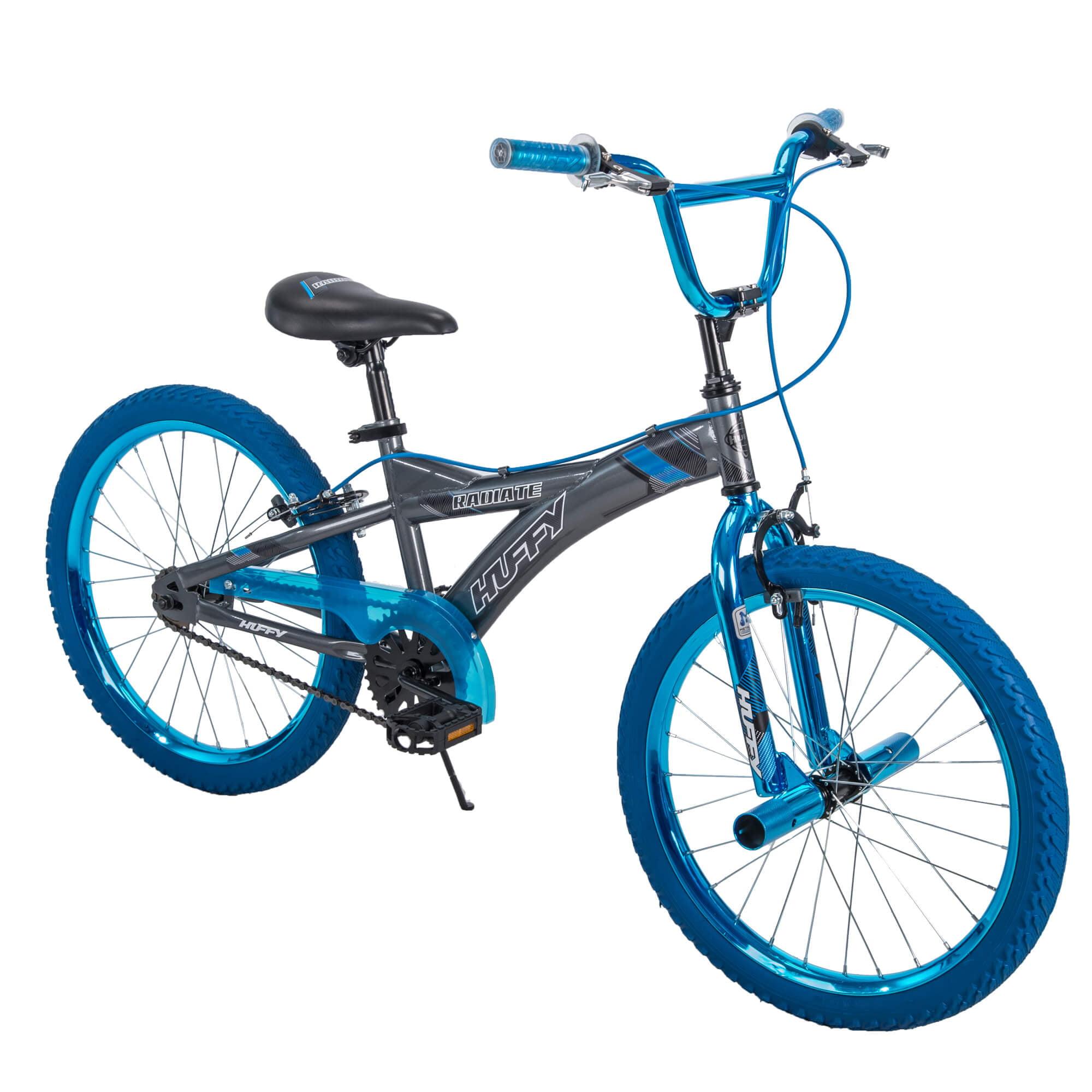 "Huffy 20"" Radium Boys' Metaloid BMX Bike, Silver with Blue Chrome by Huffy"