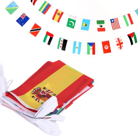 ANLEY 100 Countries String Flag, International Bunting Pennant Banner, Decoration for Grand Opening, Sports Bar, Party Events - 82 Feet 100 Flags](Banner Flag)