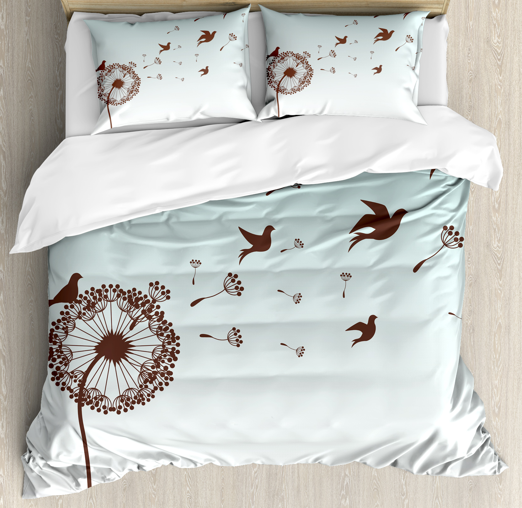 Art Decor King Size Duvet Cover Set, Dandelion Flower Pet...