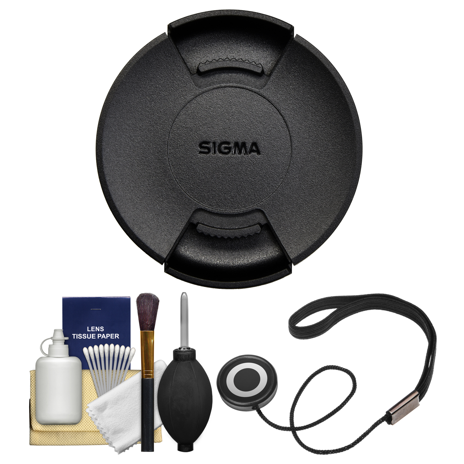 Sigma LCF-62 III 62mm Front Lens Cap with Cap Keeper + Cleaning Kit