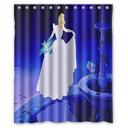 DEYOU Quiet And Quaint Cinderella Shower Curtain Polyester Fabric Bathroom Size 60x72 Inches