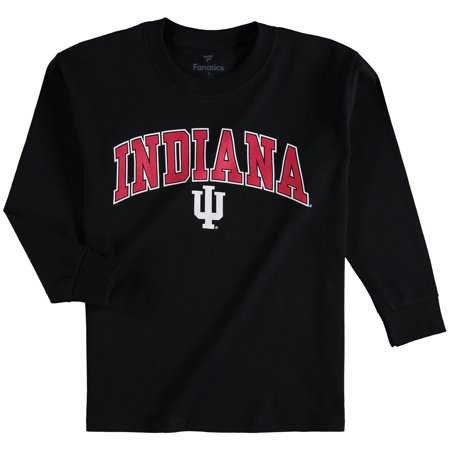 Indiana Hoosiers Fanatics Branded Youth Campus Long Sleeve T-Shirt - Black