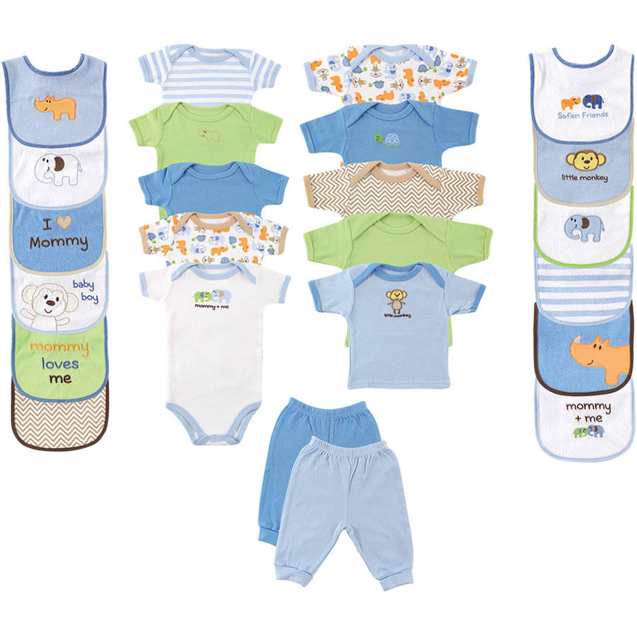 Newborn Baby Boy Deluxe Outfit Gift Set, 24pc