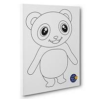 Little Baby Bum Panda Kids Room Coloring Canvas Decor