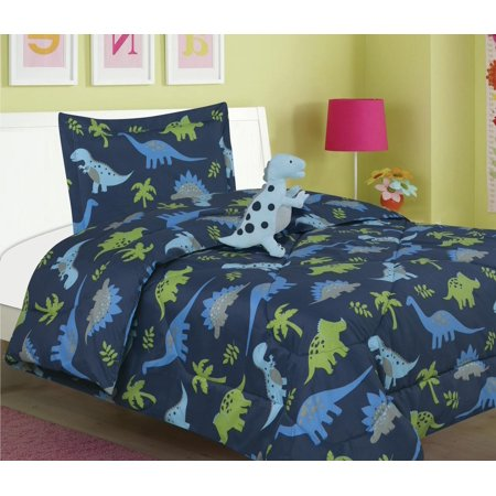 All American Collection New 3pc Children's Comforter Set with Furry Toy Twin Size